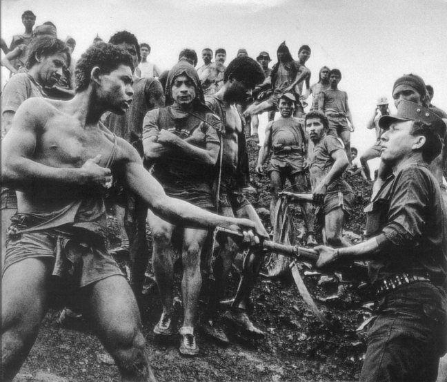 dispute-serra-pelada-gold-mine-worker-and-military-police-brazil-1986