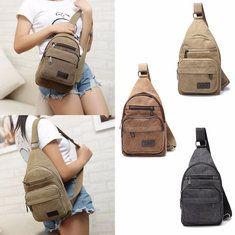#Banggood Мужчины Военные Холст плеча Sling Грудь сумки Повседневная школьная сумка (1081753) #SuperDeals