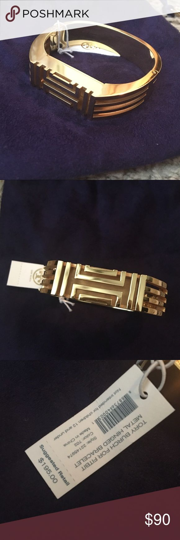 NWT Tory Burch Gold Bangle Fitbit Bracelet AUTHENTIC Tory Burch gold Fitbit bangle bracelet. NWT. Perfect for keeping up with your steps or alone for a cute Bracelet! Tory Burch Jewelry Bracelets