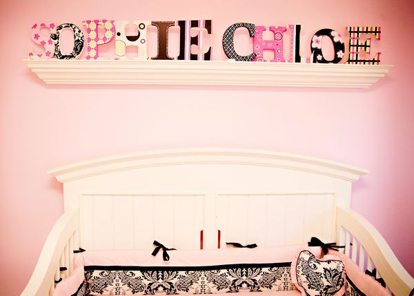 Love this idea for the block lettering! I have Ava's first name in block letters, and was just going to hang them on the wall. Now I need to get her middle name and do this!