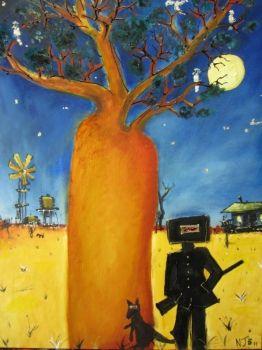 Nicholas Broughton Ned Kelly Art Painting  2012