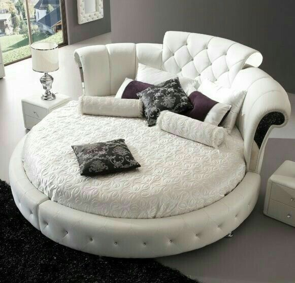 Pin By D Lucero On Round Beds Round Beds Bedroom Design Circle Bed