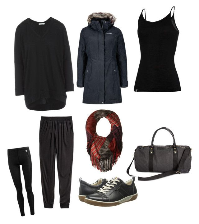 """""""Airport Outfit"""" by leenlopez on Polyvore featuring Smartwool, Cathy's Concepts, Helly Hansen, ECCO, Marmot and ibex"""