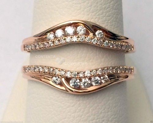 Rose Gold Solitaire Enhancer Ring Guard Wrap (0.35ct. tw)- RG331483902840