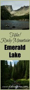 Hike to the sparkling Emerald Lake in Rocky Mountain National Park! Written by a former park ranger!