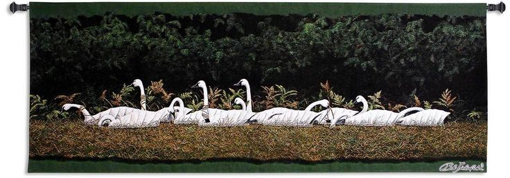 Swan Rig by Bob Timberlake | 24 x 63 | Woven Tapestry Hanging