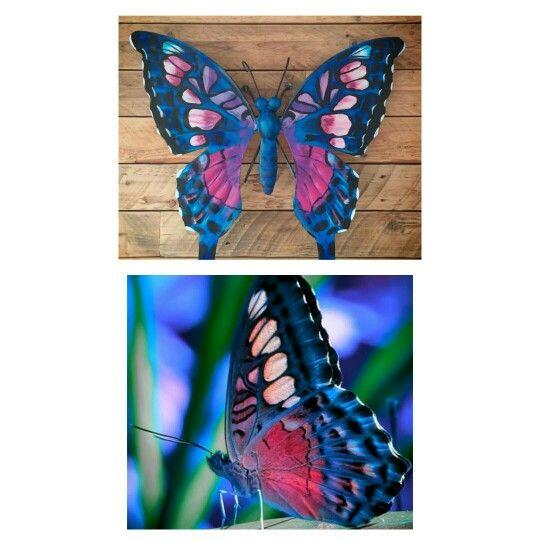Butterfly vlinder tuindecoratie Www.creativeartbyjessica.nl