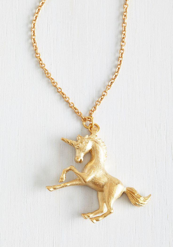 The Golden Unicorn Necklace | Mod Retro Vintage Necklaces | ModCloth.com