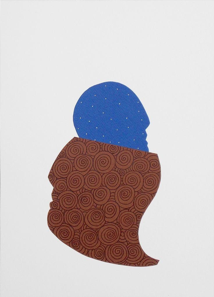 """andrea mattiello """"Il risveglio della notte"""" pennarello e collage su cartoncino cm 25x35; 2013 #andreamattiello #arte #artecontemporanea #art #contemporaryart #artistaemergente #emergingartist #artforsale #livinart"""