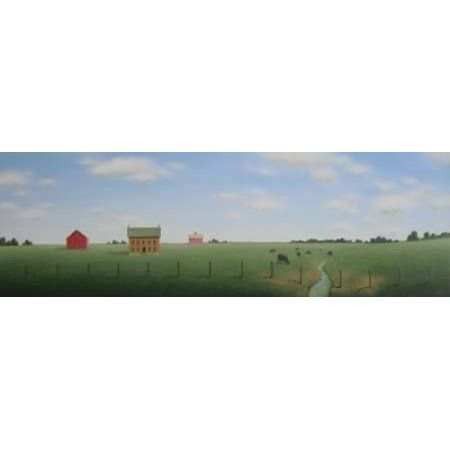 In the Quiet of the Country Canvas Art - Sharon France (12 x 36)