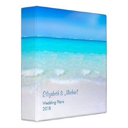 #Tropical Beach with a Turquoise Sea Wedding Plans 3 Ring Binder - #travel #trip #journey #tour #voyage #vacationtrip #vaction #traveling #travelling #gifts #giftideas #idea