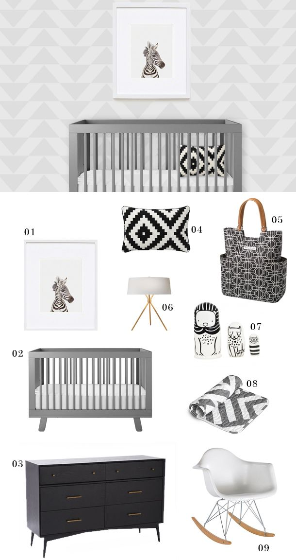 Monochrome Modern Nursery Inspiration