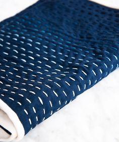 From DESIGN SPONGE: Kantha stitching tutorial adelinecrafts