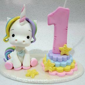 "Maristela Yamada (@tekabiscuitartesanato) no Instagram: ""Velinha unicornio  #biscuit #artesanato #velinhadecorada #festaarcoiris #festaunicornio…"""