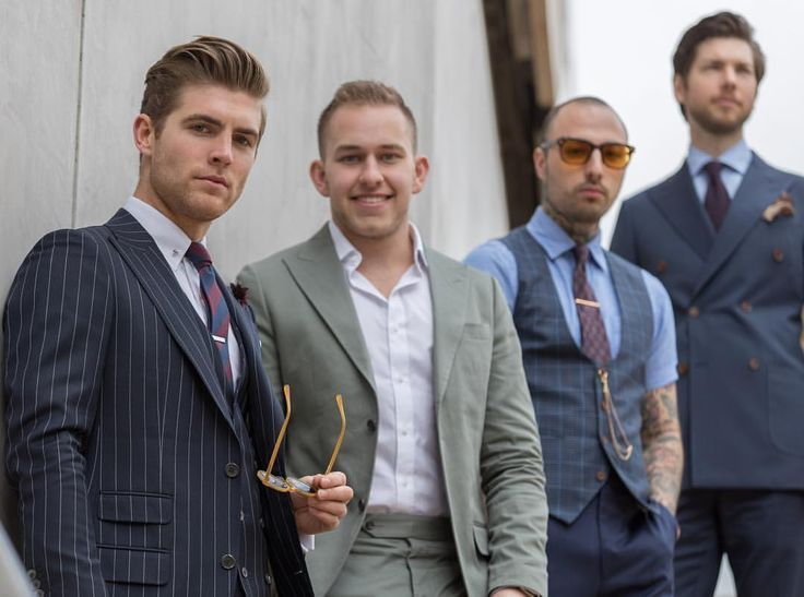 hermenmenswear:    Squad game strong style game stronger. SW @samwines_ BH @badehilton RM @this.is.malice and NB in tailored gear by hermen. (at Federation Square)