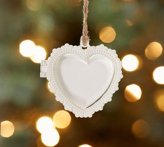 2015: Personalized Heart Locket Ornament