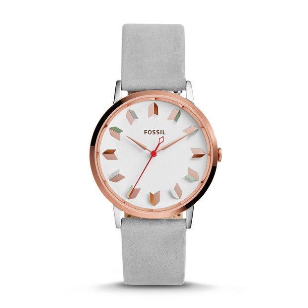 Vintage Muse Three-Hand Iron Leather Watch