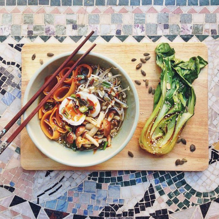 Vegetarian ramen soup // Vegetarisk ramen soppa