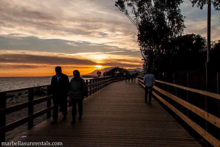 Promenade at sunset marbella east