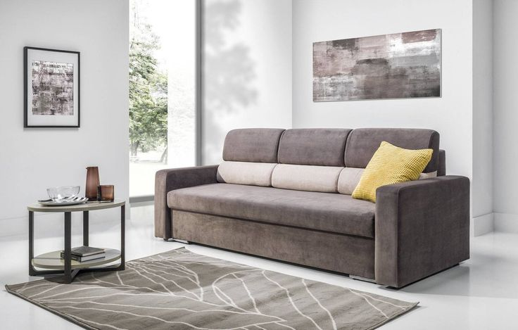 --- NOW £449 INC.VAT --- * INSTALMENTS 12 MONTHS - 0 % * ~ FREE DELIVERY !! ~ ROMA is a comfortable sofa bed with its own built in a container and large sleeping area when unfolded. The unfolding of this sofa bed used an up and forward bed mechanism.  Dimensions (cm): W:232 H:90 D:94  Sleeping Area - W:197/ D:150  THE CUSTOMER CAN CHOOSE A MAIN COLOUR  FABRIC AND FRAME OR STRIPS COLOUR FABRIC. IF THE CUSTOMER DOES NOT CHANGE THE FABRICS THE ITEM WILL BE DELIVERY IN THE STANDARD COLOUR