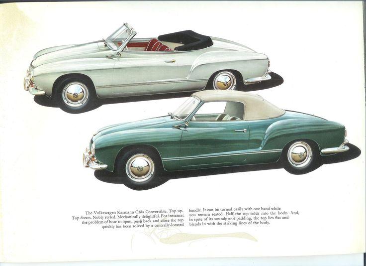 Karmann Ghia, Sales Brochure, 1959. Volkswagen