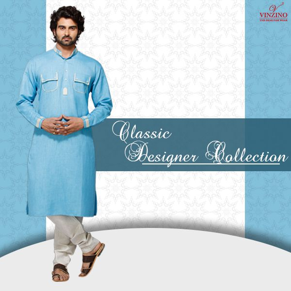 Make an ethnic #style statement by choosing from a range of #kurta, #waistcoat and #sherwani for men