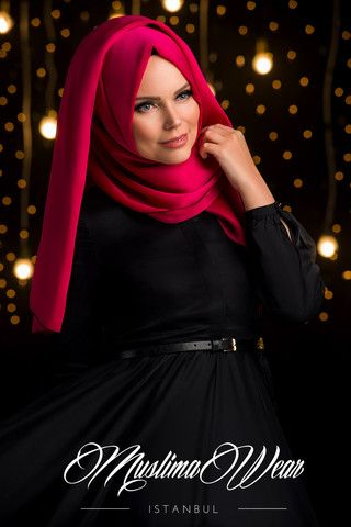 Muslima Wear Chiffon Scarf hijab Red Rose colour. | US Muslima Wear