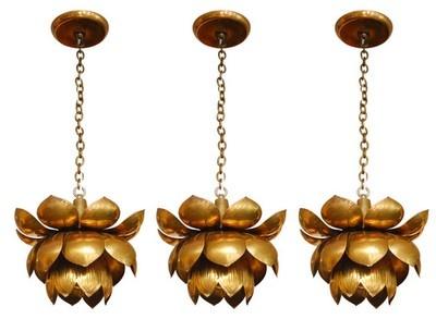 brass vintage flower pendants.
