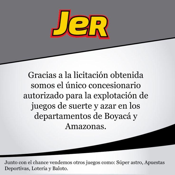 : En JER tienes el mejor chance de jugar y GANAR, averigua cómo en http://apuestasjer.com/  #seguridad #tranquilidad