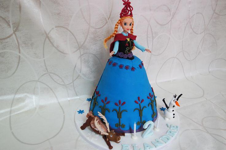 Frozen Anna Cake