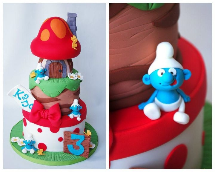 What a great smurf cake!