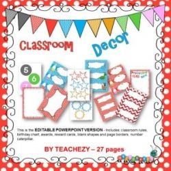 Classroom Decor Pack PowerPoint