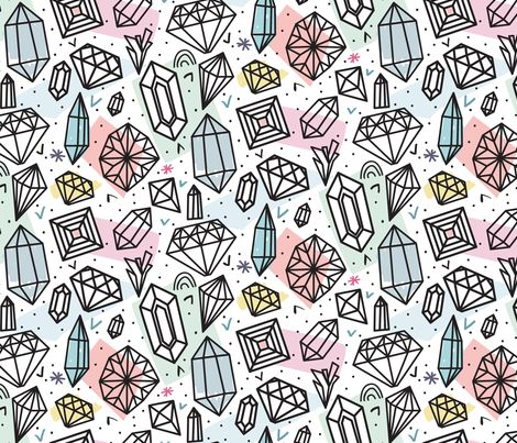 Be glossy fabric by demigoutte on Spoonflower - custom fabric- NUMBER 9 of the Geode and Gemstone Design Contest!! CONGRATULATIONS :-)