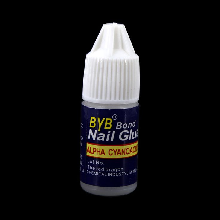 Nail jewelry trend of false nail blue bottle sticky drilling glue wholesale nail glue film 3g