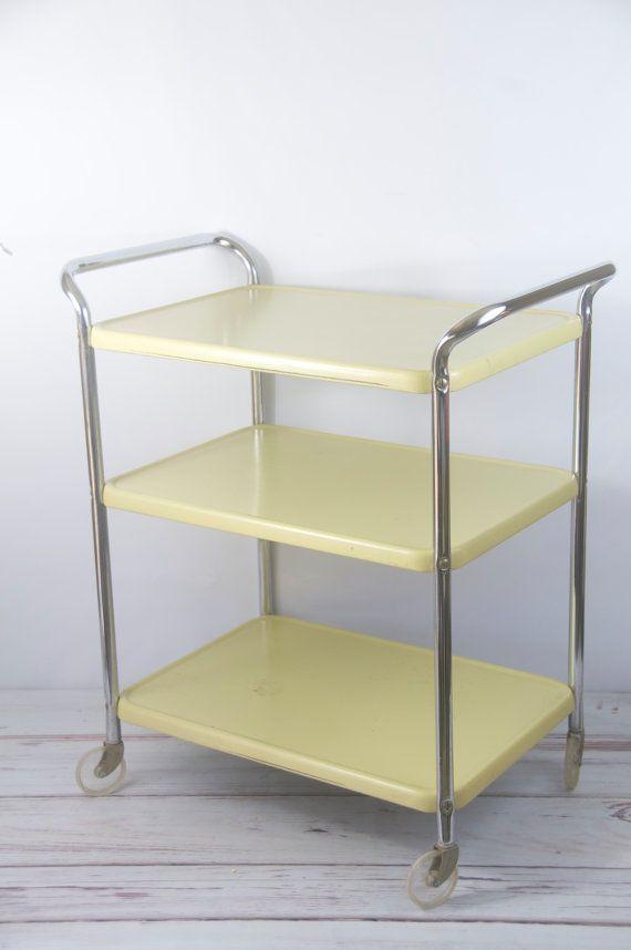 Vintage 1950s Cosco Metal Utility Kitchen Appliance Table