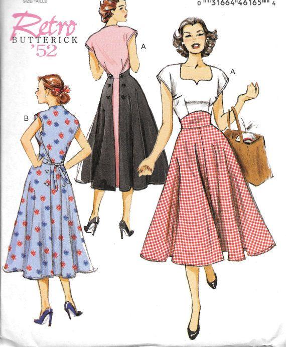 Butterick 6212 mist Retro kleding naaien patroon door ucanmakethis