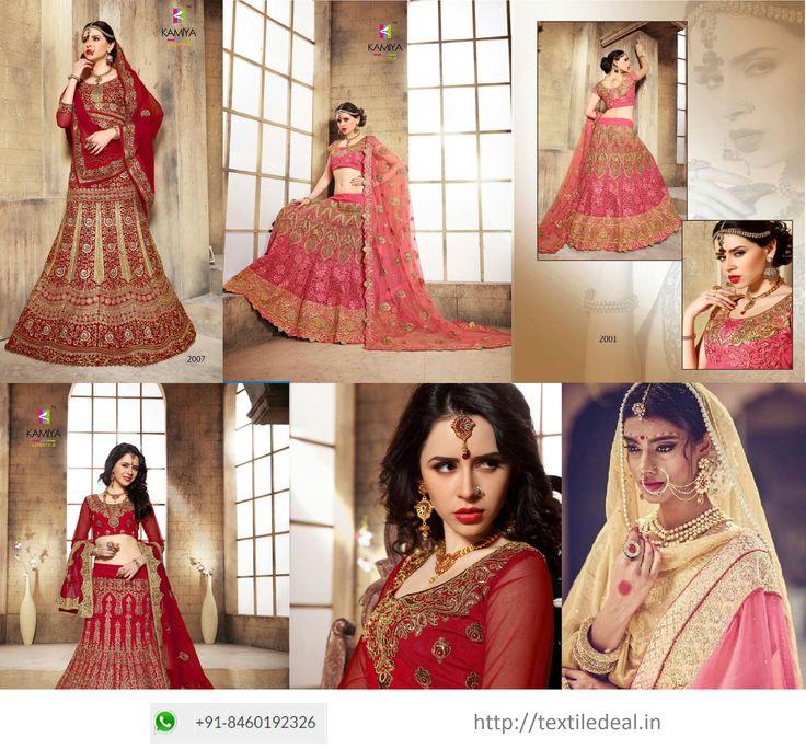 Check Out Exclusive Ethnic Bridal Lehenga Choli From #Bridal #LehengaCholi Wholesaler in Surat  Shop Online @ textiledeal.in/swholesale/Lehengas-wholesale