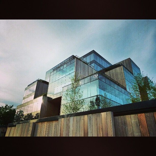 Found on #Starpin. #architecture #modern #pixel #office #allegro #cube #wood #Eco #bryla #award #poznan #Poznań
