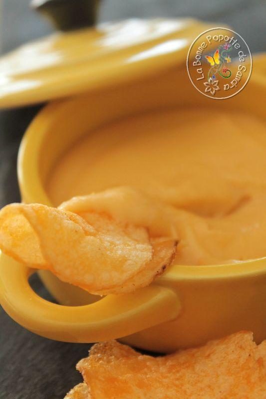 Sauce cheddar pour nachos et crudités