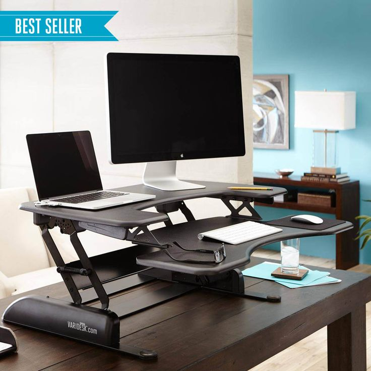 Height Adjustable Standing Desks | VARIDESK Sit-to-Stand Desks. Cheapest is $395. Can return. For bill for Christmas-boys contribute. Supposed to help back pain to be able to stand up for periods during work-bill could do while working on notes, especially with having to type them all soon.