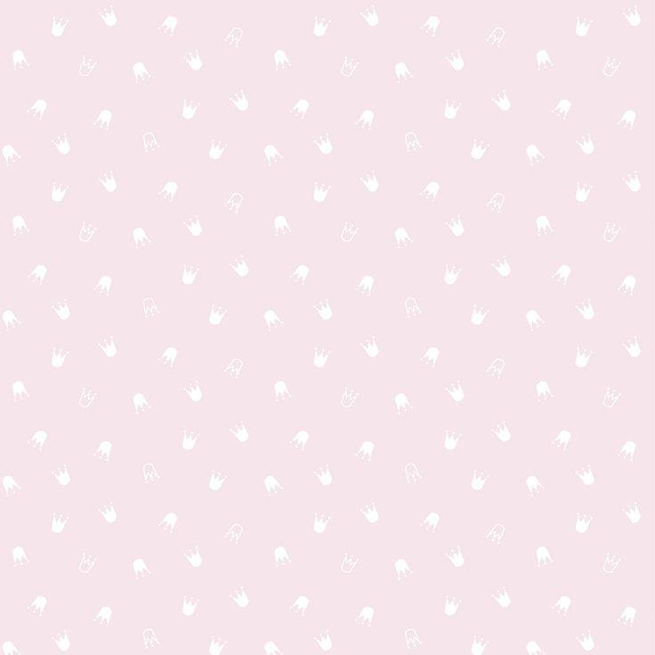 Lilipinso Little Princess Wallpaper - Crowns ǀ minideco.co.uk