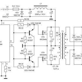 Dc To Dc Converter 12v To 38v Sub Power Supply Circuit