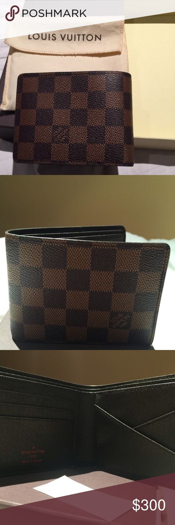 Louis Vuitton Damier Ebene Mens Wallet Like New Louis Vuitton Accessories