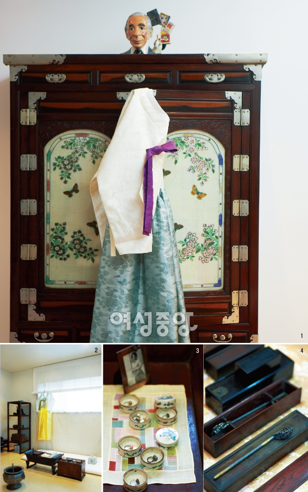 hanbok designer kimyoungseok's house : traditional korean furniture and hanbok