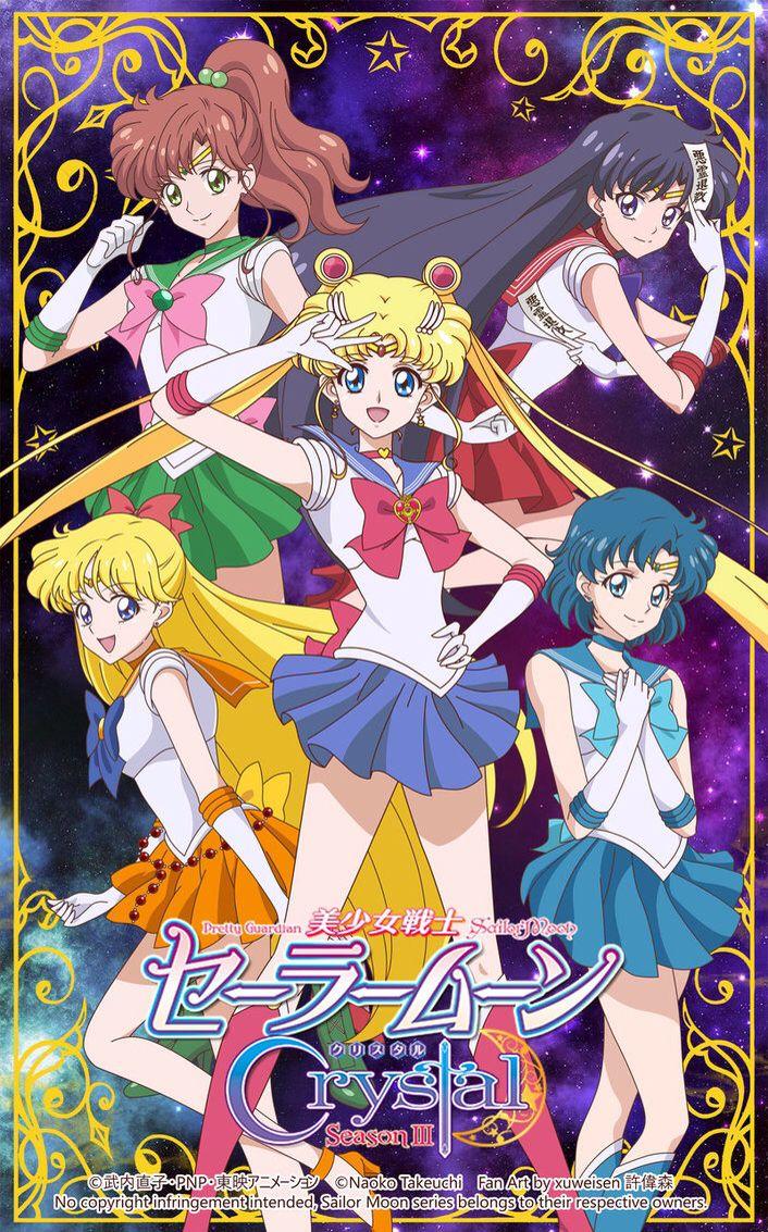 Fanart by Xuweisen • Sailor Moon Crystal Inner Senshi