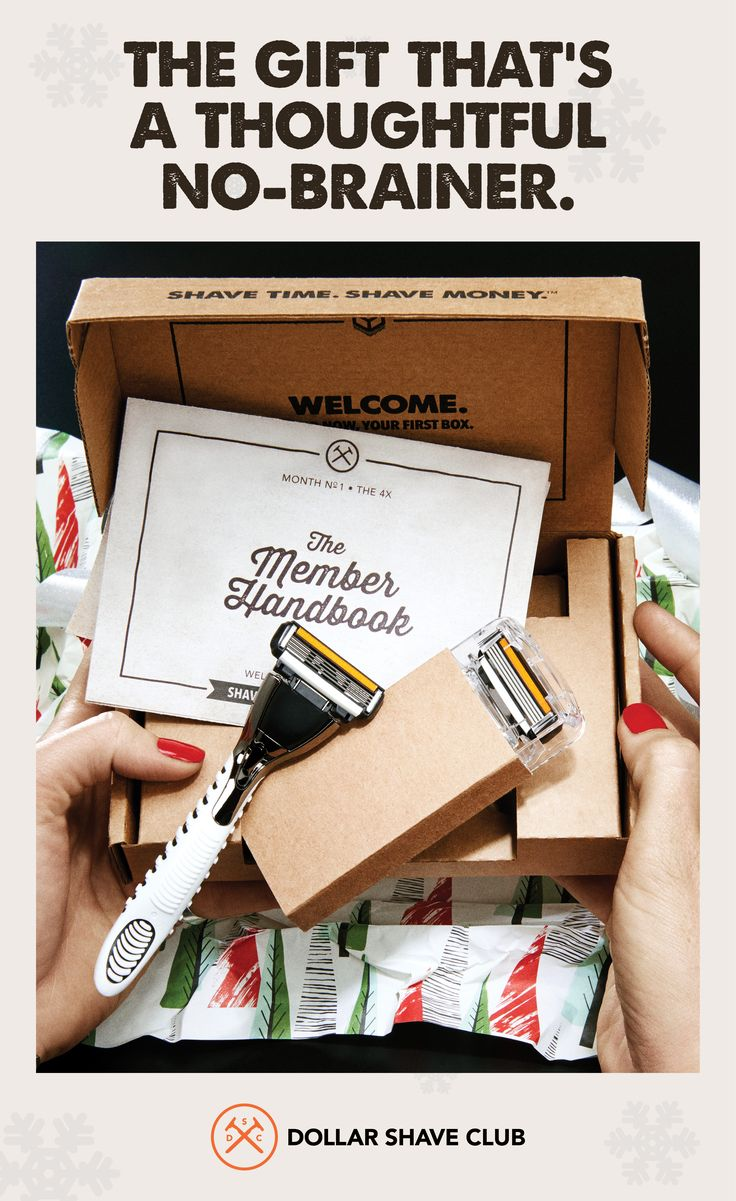 Spread some serious holiday cheer this season with a Gift Membership to Dollar Shave Club. It's the gift that keeps on shaving. Gift now.