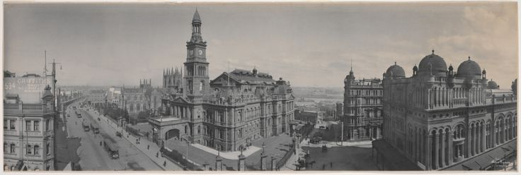 Sydney Town Hall and Queen Victoria Building  in 1904.A♥W