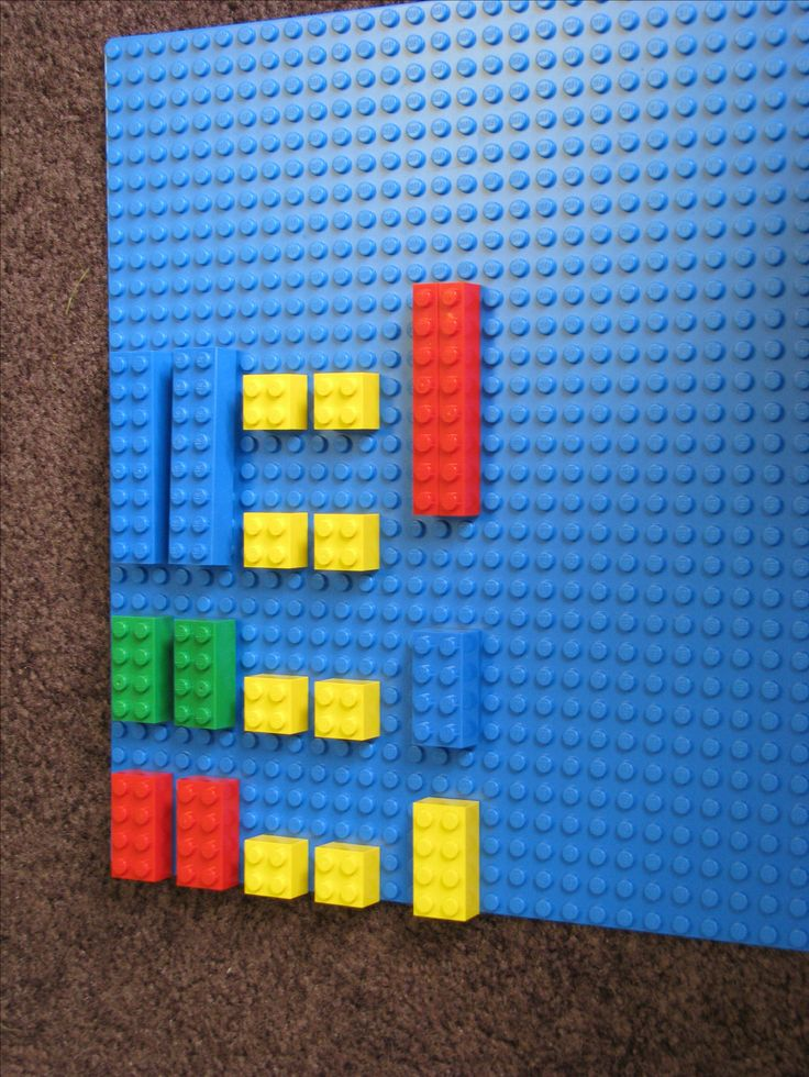 "Using Legos to diagram Rhythms. The picture is ""Hot Cross Buns."" I need to get some Legos!!"