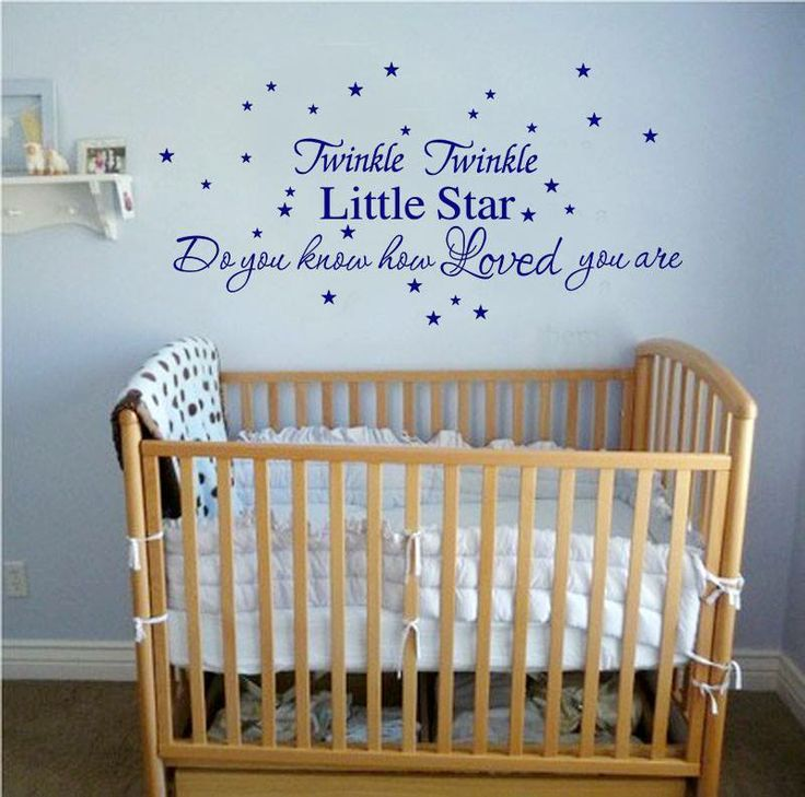 Whimsical Wall Stickers - Twinkle Twinkle Little Star - Blue (Decal), $19.95 (http://www.whimsicalwallstickers.com.au/twinkle-twinkle-little-star-blue/)   Twinkle Twinkle Little Star Do You Know How Loved You Are.  Available in Blue  Can be placed on the wall any way you like.  Measures 140cm x 45cm