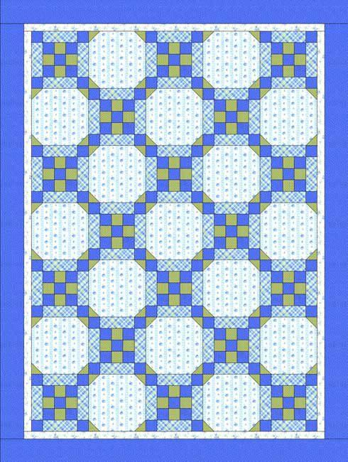 baby quilts | Baby Quilt Pattern: Easy Framed Nine Patch Quilt